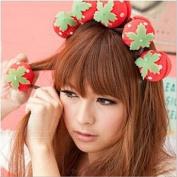 Skyluna® 12pcs/lot Magic Beauty Strawberry Soft Sponge Hair Care Foam Balls Hair Curler