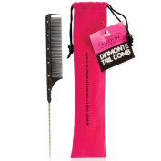 Sleep-In Rollers Diamonte Tail Comb with Velour Pouch by Sleep-In Rollers