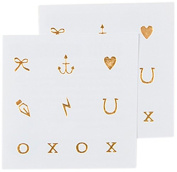 Tattly Temporary Tattoos, Little Marks/Gold, 5ml