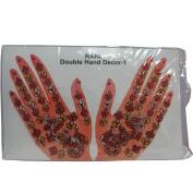 Indian Fashion Art Bollywood Hand Tattoo Sparkling Rhinestone Stick-On Reuseable Bindi
