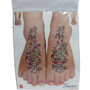 Indian Fashion Art Bollywood Feet Tattoo Sparkling Rhinestone Stick-On Reuseable Bindi