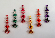 Stick On Ornament Bridal Bindi Forehead Stickers Body Art Tattoo Jewellery Bellydance - #25