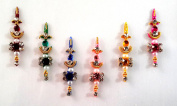 Stick On Ornament Bridal Bindi Forehead Stickers Body Art Tattoo Jewellery Bellydance - #08