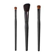 ON & OFF East Meets West Collection Shadow Fluff, Slanted Cheek and Large Oval Shader Brush Set