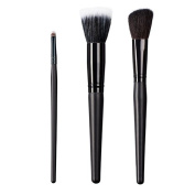 ON & OFF East Meets West Collection Small Detailer, Stipple and Slanted Cheek Brush Set