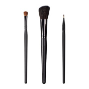 ON & OFF East Meets West Collection Shadow Fluff, Slanted Cheek and Firm Liner Brush Set