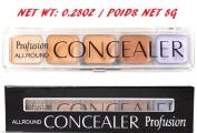 Professional Makeup Camouflage Concealer 5 Colours Palette Lavender Corrector