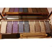 Eshion Women Waterproof Makeup Glitter Eyeshadow Palette with Brush