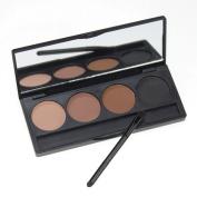 Easyshow Women's Eye Brow Palette Eyebrow Powder with Brush Mirror