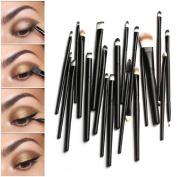 Lowpricenice 20PCS Makeup Brush Set Dotting Cosmetic Tools Shadow Pen Eyeliner Brush