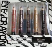 Malibu Glitz Cosmetics Pearly Eye Crayon Eyeshadow Set, 5pc