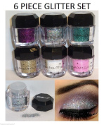 Cosmetics Eye shadow Colour Makeup Pro Glitter Eyeshadow Palette 6 Colours