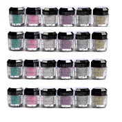 Glomour Glitter For Makeup Eye Shadow,Face Nails 6 Colour 2 Dozen