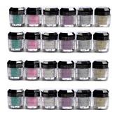 Glomour Glitter For Makeup Eye Shadow,Face Nails 6 Colour 2 Dozen