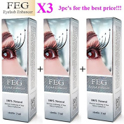 3 X FEG Eyelash enhancer!!! 3 pieces of most powerful eyelash growth Serum 100% Natural. Promote rapid growth of eyelashes!!!