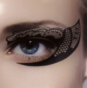 Sexy Fishnet Eye Liner Temporary Tattoo Set Gothic Makeup