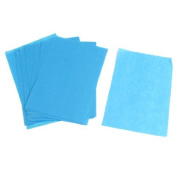 FOREVER YUNG Lady Cosmetic Facial Oil Blotting Paper Sheets 100 Pcs Blue