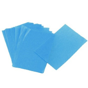 FOREVER YUNG Lady Cosmetic Facial Oil Blotting Paper Sheets Blue 50 Pcs