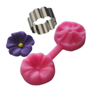 FOUR-C Silicone Moulds Flower Cake Design Moulds Colour Pink