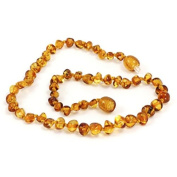 Baltic Baby Amber Necklace Rounded Beads by Momma Goose