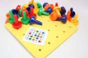 Peg Board - Fine Motor Toy for Toddlers and Preschoolers - Occupational Therapy