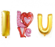 "3 PCS Helium Foil balloons , Party Wedding Supply ""I LOVE YOU"" Type 7"
