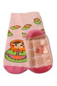Weri Spezials Baby-Unisex Terry ABS Matrioshka Slippers Anti Non Slip Socks Rose