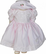 Girls Pink Butterfly Dress and Hat Set 0-3 - 18-23 Months
