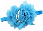 Lovely Girls Baby Headbands,Pearl,Blue
