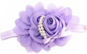 Lovely Girls Baby Headbands,Pearl,Purple