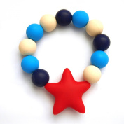 Lily Bear Star Silicone Beaded Teething Bracelet Verious Colours