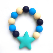 Lily Bear Star Silicone Beaded Teething Bracelet Various Colours