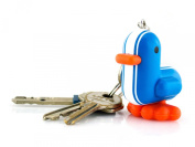 Canar 5cm duck keychain RACER Series - Colour Blue/White stripes