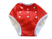 Three Little Imps Button Up Toddler Training Pants 8-35+ pounds - Red