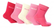 5 Pack Baby Elle Designer Socks BE01 Pink 0-2 uk 0-18Eur