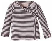 LANA natural wear Baby Girls Wickelshirt Finn Striped V-Neck Long Sleeve Long Sleeve Top