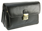 Primehide Mens Compact Soft Leather Pouch / Wrist Handbag Bag By Firelog - 854