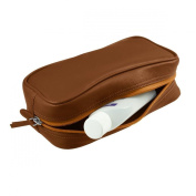 Lucrin - Small toilet bag - Smooth cow - Leather - Tan