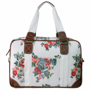 Miss Lulu Ladies Owl Butterfly Floral Polka Dot Print Oilcloth Travel Overnight Weekend School Bag