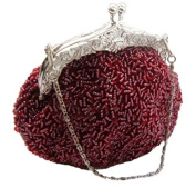 Fully Sequined Beaded Antique Style Wedding Evening Formal Cocktail Bag Clutch Purse