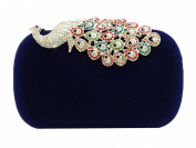niceeshop(TM) Women Rhinestone Peacock Velvet Party Clutch Evening Bags