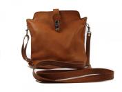 Genuine Italian Soft Leather Small Cross Body Handbag in Tan