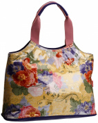 Lulu Australia Womens Retro Floral Typical French Top-Handle Bag