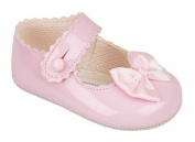 BABY GIRLS PATENT BUTTON PRAM WEDDING CHRISTENING PARTY CHILDRENS SHOES