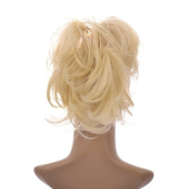 Light Blonde Flexihair Clip on Ponytail | Flexible hair strands you can bend and shape |Claw Clip Attachment