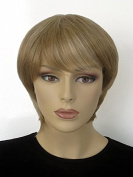 Short, Layered Pixie Cut Wig, Two Tone Blonde