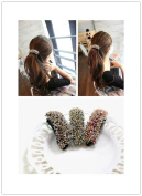 SONGQEE(TM) Fashion Elegant Crystal Rhinestone Banana Hair Clip Horsetail BuckleTuck Comb Hair Band