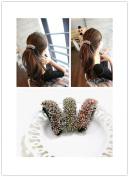 SONGQEE(TM) Fashion Elegant Crystal Rhinestone Banana Hair Clip Horsetail BuckleTuck Comb Hair Band
