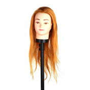 Anself Hair Hairdressing Practise Head Training Model Mannequin Cut with Clamp