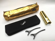 Gold Hair Straighteners Styler & Store Set fits Cloud 9, SHE & GHD inc Bag, Guard, Mat & Clips